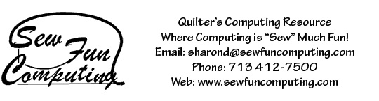 SewFunComputing - Home of Quilter's Computing Resource